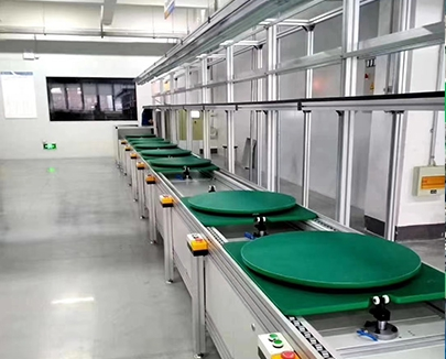3 times speed silent double speed chain conveyor line