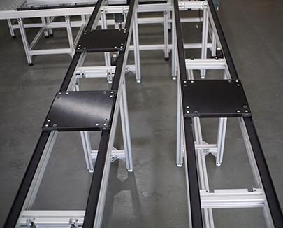 40KG double belt pallet conveyor line